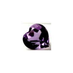 Amethyste bresil naturelle taille coeur a facettes 8 mm