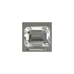 Topaze blanche taille emeraude 8x6 mm 1.82 carats