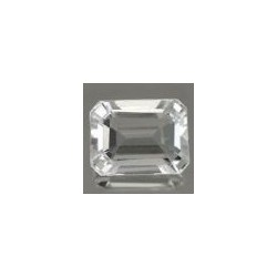 Topaze blanche taille emeraude 7x5 mm 1.20 carats