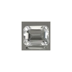 Topaze blanche taille emeraude 6x4 mm 0.65 carats