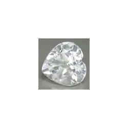 Topaze blanche taille coeur a facettes 6x6 mm 0.92 carats