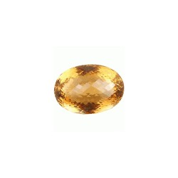 citrine madeira taille ovale a facettes 35.00 x 24.00 x 21.69 mm 118.99 carats
