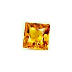 Citrine jaune or naturelle taille carree 8x8 mm