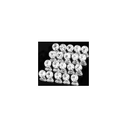Topaze blanche taille ronde a facettes 6 mm 1.00 carat