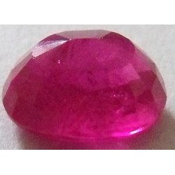 Rubissynthétique chatham ovale a facettes 10x8 mm 4.25 carats 1