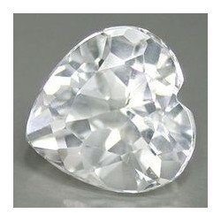 Topaze blanche taille coeur a facettes 10x10 mm 3.80 carats