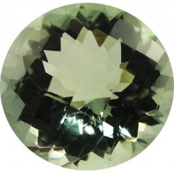 Superbe prasiolite naturelle taille ronde a facettes 12 mm 5.10 carats