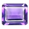 Amethyste de synthese hydrothermale taille emeraude  8x6 mm 1.86 carat